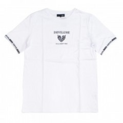"Deviluse Tシャツ ""RINGER GEOMETRY HEART TEE"" (White)"