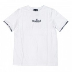 "Deviluse Tシャツ ""RINGER GEOMETRY LOGO TEE"" (White)"