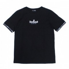 "Deviluse Tシャツ ""RINGER GEOMETRY LOGO TEE"" (Black)"