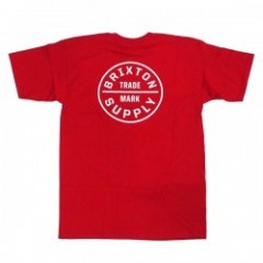 "★30%OFF★ BRIXTON Tシャツ ""OATH TEE"" (Red)"