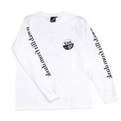 "range L/STシャツ ""RG SLEEVE MESSAGE L/S TEE"" (White)"