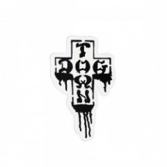 "DOGTOWN ステッカー ""CROSS LOGO DRIP STICKER"""