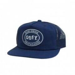 "OBEY メッシュキャップ ""OBEY OVAL PATCH TRUCKER CAP"" (Navy)"