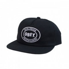 "OBEY キャップ ""OBEY OVAL PATCH SNAPBACK CAP"" (Black)"