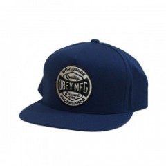 "OBEY キャップ ""WORLDWIDE DISSENT SNAPBACK CAP"" (Navy)"
