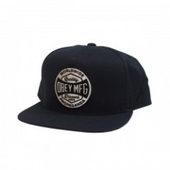 "OBEY キャップ ""WORLDWIDE DISSENT SNAPBACK CAP"" (Black)"