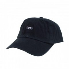 "OBEY キャップ ""JUMBLE BAR Ⅱ 6 PANEL CAP"" (Black)"