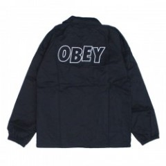 "OBEY コーチジャケット ""OBEY LO-FI COACHES JACKET"" (Black)"