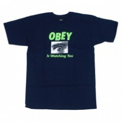 "OBEY Tシャツ ""OBEY IS WATCHING YOU TEE"" (Navy)"
