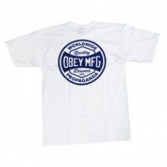 "OBEY Tシャツ ""OBEY DISSENT & PROPAGANDA TEE"" (White)"