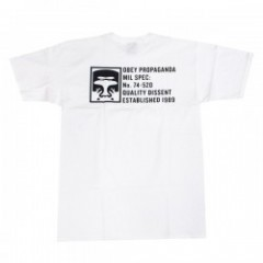 "★20%OFF★ OBEY Tシャツ ""HALF FACE MIL SPEC TEE"" (White)"
