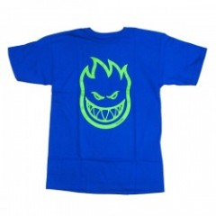 "SPITFIRE Tシャツ ""BIGHEAD TEE"" (Royal/Neon Green)"