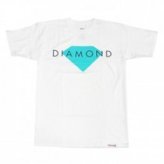 "DIAMOND SUPPLY CO. ""DIAMOND SOLID TEE"" (White)"