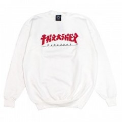 "THRASHER クルースウェット ""GODZILLA CREW NECK SWEAT"" (White)"