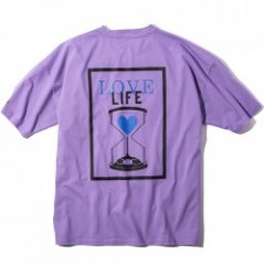 "Deviluse Tシャツ ""LOVE LIFE BIG TEE"" (Lavender)"