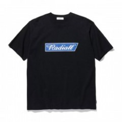 "RADIALL Tシャツ ""FLAGS CREW NECK T-SHIRT S/S"" (Black)"