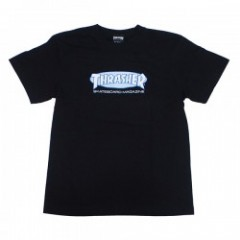 "THRASHER Tシャツ ""OVAL MAG TEE"" (Black/White)"