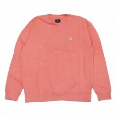 "OBEY クルースウェット ""FADE PIGMENT CREW SWEAT"" (Coral)"