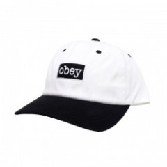 "OBEY キャップ ""BROOKS 6 PANEL SNAPBACK CAP"" (O.White)"