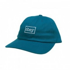 "OBEY キャップ ""OUTLINE 6 PANEL SNAPBACK CAP"" (Teal)"
