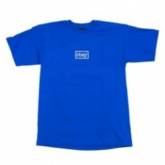 "OBEY Tシャツ ""OBEY TYPEWRITTER TEE"" (Royal Blue)"