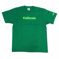 "seedleSs Tシャツ ""CALIFORNIA S/S TEE"" (Green)"