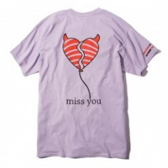 "Deviluse Tシャツ ""MISS YOU TEE"" (Lavender)"