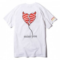 "Deviluse Tシャツ ""MISS YOU TEE"" (White)"