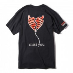 "Deviluse Tシャツ ""MISS YOU TEE"" (Black)"