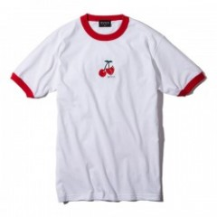"Deviluse Tシャツ ""CHERRY TRIM TEE"" (White/Red)"