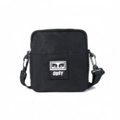 "OBEY ミニショルダーバッグ ""DROP OUT TRAVELER BAG"" (Black)"