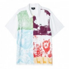 "OBEY S/Sシャツ ""HITTER WOVEN"" (White Multi)"