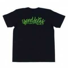"seedleSs Tシャツ ""STASH POCKET! TEE"" (Black)"