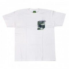 "seedleSs Tシャツ ""CAMO POCKET S/S TEE"" (White)"