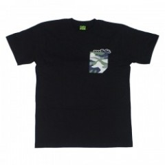 "seedleSs Tシャツ ""CAMO POCKET S/S TEE"" (Black)"