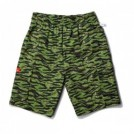 "COOKMAN ショーツ ""CHEF SHORT CARGO PANTS"" (Ripstop / Tiger Camo Green)"