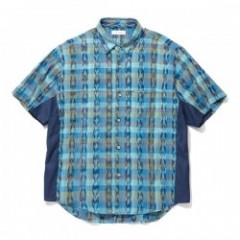 "RADIALL S/Sシャツ ""EL CAMINO REGULAR COLLARED SHIRT S/S"" (Turquoise Green)"