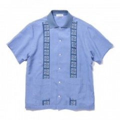 "RADIALL ""HABANA ONE PIECE COLLARED SHIRT S/S"" Blue"