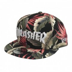"THRASHER ""MAG NEW ERA SNAPBACK CAP"" BlackBotanical"