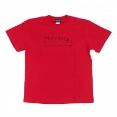 "THRASHER Tシャツ ""NEW RELIGION WORLDWIDE TEE"" (Red)"
