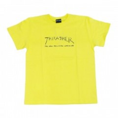 "THRASHER Tシャツ ""NEW RELIGION WORLDWIDE TEE"" (Lt.Yel"