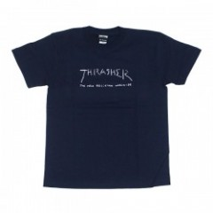 "THRASHER Tシャツ ""NEW RELIGION WORLDWIDE TEE"" (Navy)"