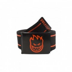 "SPITFIRE ベルト ""BIGHEAD STRIPES WEB BELT"" Blk/Orange"