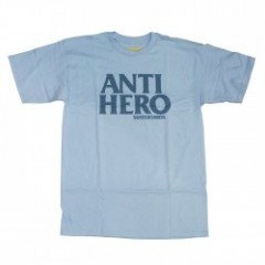 "ANTIHERO Tシャツ ""BLACK HERO TEE"" (Powder Blue)"