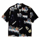 "RADIALL S/Sシャツ ""BIBLE OPEN COLLARED SHIRT S/S"" (Black)"