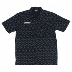 "THRASHER S/Sシャツ ""MAG/GOAT ALLOVER S/S WORK SHIRT"" (Black/Charcoal)"