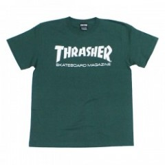 "THRASHER Tシャツ ""MAG LOGO TEE"" (Ivy Green/White)"