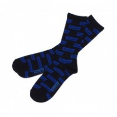 "RADIALL ソックス ""2PAC SOX FLAGS LONG"" (Black)"