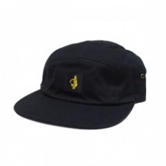"KROOKED キャップ ""SHMOLO LABEL CAMPER CAP"" (Black)"
