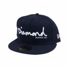 "DIAMOND SUPPLY CO. ""OG SCRIPT FITTED CAP"" (Navy)"